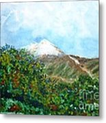 Autumn At The Foot Of Mount Elbrus Metal Print