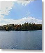 Autumn At The Lake Metal Print by Judy  Waller