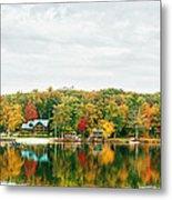 Autumn At The Lake - Pocono Mountains Metal Print by Vivienne Gucwa