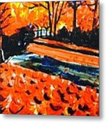 Autumn At The Park. Metal Print