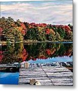 Autumn At The Pond Metal Print