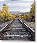 Autumn At The Railroad Metal Print