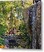Autumn At The Waterfall Metal Print