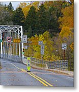 Autumn At Washington's Crossing Bridge Metal Print