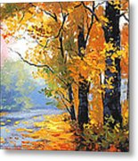 Autumn Backlight Metal Print
