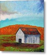 Autumn Barn In Color Metal Print