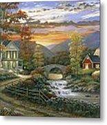 Autumn Barn Metal Print by John Zaccheo