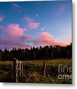 Autumn Barnyard Sunset Metal Print
