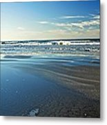Relaxing Autumn Beach  Metal Print