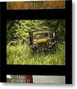 Autumn Boys Metal Print