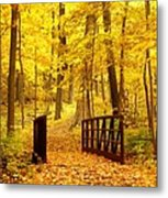 Autumn Bridge II Metal Print