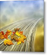 Autumn Bridge Metal Print by Veikko Suikkanen