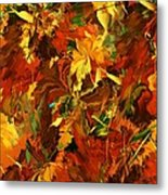Autumn Burst Metal Print