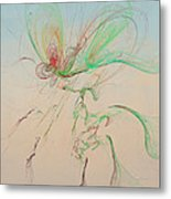 Autumn Butterfly Abstract Metal Print