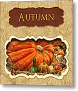 Autumn Button Metal Print by Mike Savad