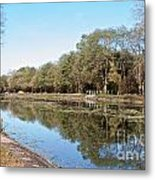 Autumn By The Erie Canal Metal Print