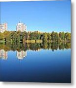 Autumn By The Triangle Lake In Stockholm Metal Print