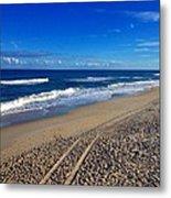 Autumn Carolina Beach Metal Print by Joan Meyland