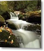 Autumn Cascades In Tennessee Metal Print