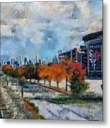 Autumn Chicago White Sox Us Cellular Field Mixed Media 03 Metal Print