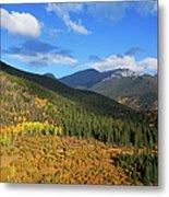 Autumn Color In Colorado Rockies Metal Print