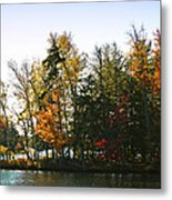 Autumn Color On The Fulton Chain Of Lakes Metal Print