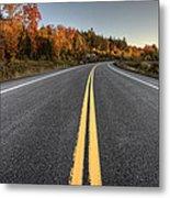 Autumn Colors And Road  Metal Print
