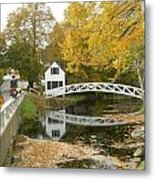 Autumn Colors At Somesville Bridge Mount Desert Island Maine Metal Print