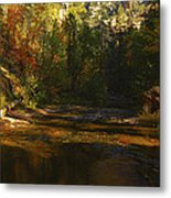 Autumn Colors By The Creek  Metal Print
