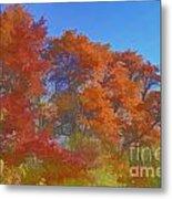 Autumn Colors I Digital Paint Metal Print