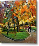 Autumn Colors - Lugano Metal Print