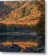 Autumn Colors Reflected In Stream Metal Print