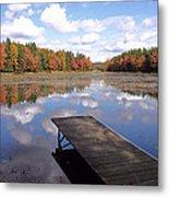 Autumn Dock Metal Print