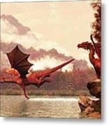 Autumn Dragons Metal Print