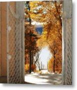 Autumn Entrance Metal Print
