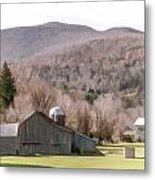 Autumn Farm In Catskills Metal Print