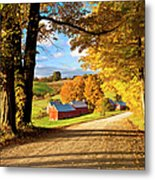 Autumn Farm In Vermont Metal Print