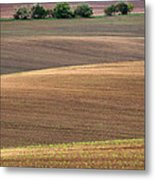 Autumn Fields Of Moravia Metal Print
