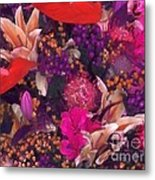 Autumn Flower Bouquet Metal Print