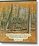 Autumn Forest - George Washington Carver Quote Metal Print