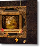 Autumn Frame Metal Print by Amanda Elwell