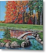 Autumn Glory At The Arboretum Metal Print