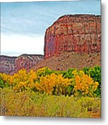 Autumn Gold On Highway 211 Going Into Needles District Of Canyonlands National Park-utah   Metal Print