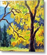 Autumn Gold Yosemite Valley Metal Print