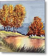 Autumn Golds Metal Print