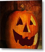 Autumn - Halloween - Jack-o-lantern  Metal Print by Mike Savad