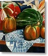 Autumn Harvest Metal Print by Eve Riser Roberts