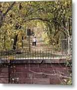 Autumn Hike On The C And O Canal Towpath At Seneca Creek Metal Print
