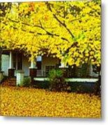 Autumn Homestead Metal Print