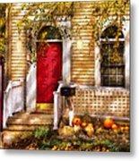 Autumn - House - A Hint Of Autumn  Metal Print